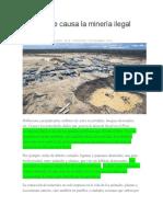 Causas de la minería ilegal