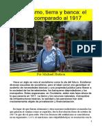 Socialismo, Tierra y Banca El 2017 Comparado Al 1917
