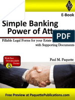 Simple Banking Power of Attorney