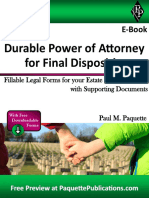 Durable Power of Attorney for Final Disposition