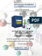 Manual de Quimica, practicas de laboratorio