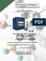 Manual de Quimica, practicas de laboratorio