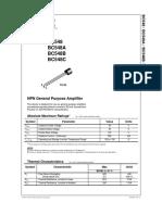 BC548 pdf | Bipolar Junction Transistor | Amplifier