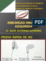 Inmunidad Innaata y Adquirida. Vih , Sifilis 2018