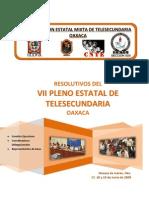 Resolutivos Del Vii Pleno de Telesecundaria