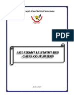 Chef Coutumier Loi