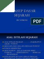 Konsep Dasar Sejarah Islam