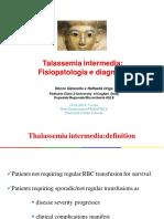 Talassemia Intermedia Fisiopatologia