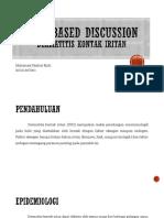 Case Based Discussion- Dermatitis Kontak Iritan Kronik