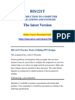 BIS 221T Practice Week 4 Editing PPT Designs/uopcourse.com