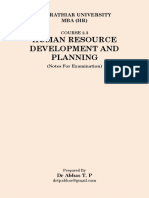 Human Resource Development and Planning ExamNotes