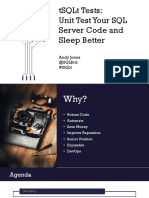 Andrew Jones_tSQLt Tests Unit Test Your SQL Server Code and Sleep Better