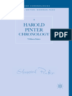 A Harold Pinter Chronology (2013)