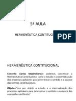5ª Aula Constitucional