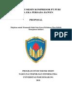 Observasi Mesin Kompresor Pt Puri Nusa Eka Persada Bawen