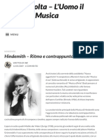 Hindemith – Ritmo e Contrappunto – Musica Colta – L'Uomo Il Tempo La Musica