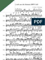 Wachtet Auf, Ruft Uns Die Stimme BWV 645