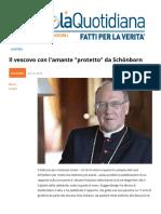 Il Vescovo Con L'Amante Protetto Da Schoenborn