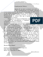 Carta a La 4ta. Tranformación; México