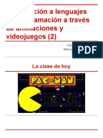 Introducción a los lenguajes de programación a través de animaciones y videojuegos
