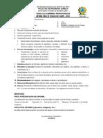 Estructura de Informes de Prácticas y Otros
