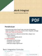 Teknik Integrasi