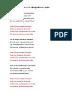 Hino de São João Do Piauí Letra