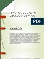 Práctica de Campo Geología de Minas
