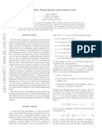 Probabilistic Turing machine and the Landauer Limit