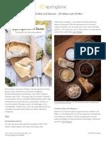 Dips, Aufstriche Und Saucen - 22 Ideen Zum Grillen