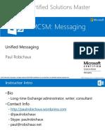 MCSM Exchange 2013 - UM
