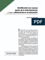 Torres, J. Identificando Los Nuevos Paradigmas de La Administracion