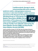 Consensus Antithrombotic Therapy in AF in Patients With Acute Coronary Syndrome and Undergoing Percutaneous Coronary or Valve Interventions