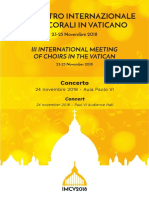 Corali in Vaticano - Libretto Concerto