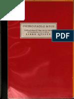 Pietro Paolo Mello - Intavolatura Di Liuto e Di Tiorba - Libro Quinto