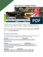 Sims 4 Rumo à fama