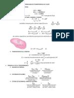 Formulario de Transferencias de Calor