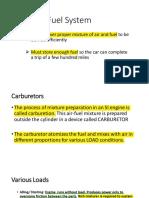 Engine Fuel System