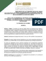 PROYECTO DE LEY DE TIC. Texto Aprobado en Comisiones VI Conjuntas de Senado y Cámara. Pl 152-18 s, 202-18 c