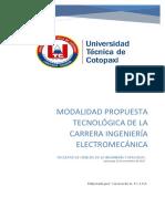 Modalidad Propuesta Tecnologica Electromecanica