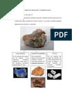 II Examen de Geología y Mineralogía