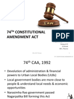 74th Amendment Act