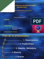 Présentation DU PFE Modèle