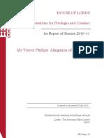 Mr Trevor Phillips - Allegation of Contempt