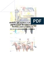 Manual de Patrullaje a Pie, Motorizado y a Caballo