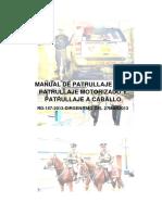 Manual de Patrullaje a Pie, Motorizado y a Caballo