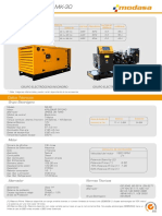 Especificación técnica grupo electrógeno modasa