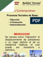 migracion,urbanizacion,industralizacion