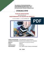 Plan de Capacitación Reparacion PC 2018 - CETPRO