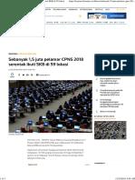 Sebanyak 1,5 Juta Pelamar CPNS 2018 Serentak Ikuti SKB Di 59 Lokasi